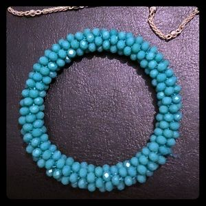Other - Crystal turquoise bracelet! Super cute I have two
